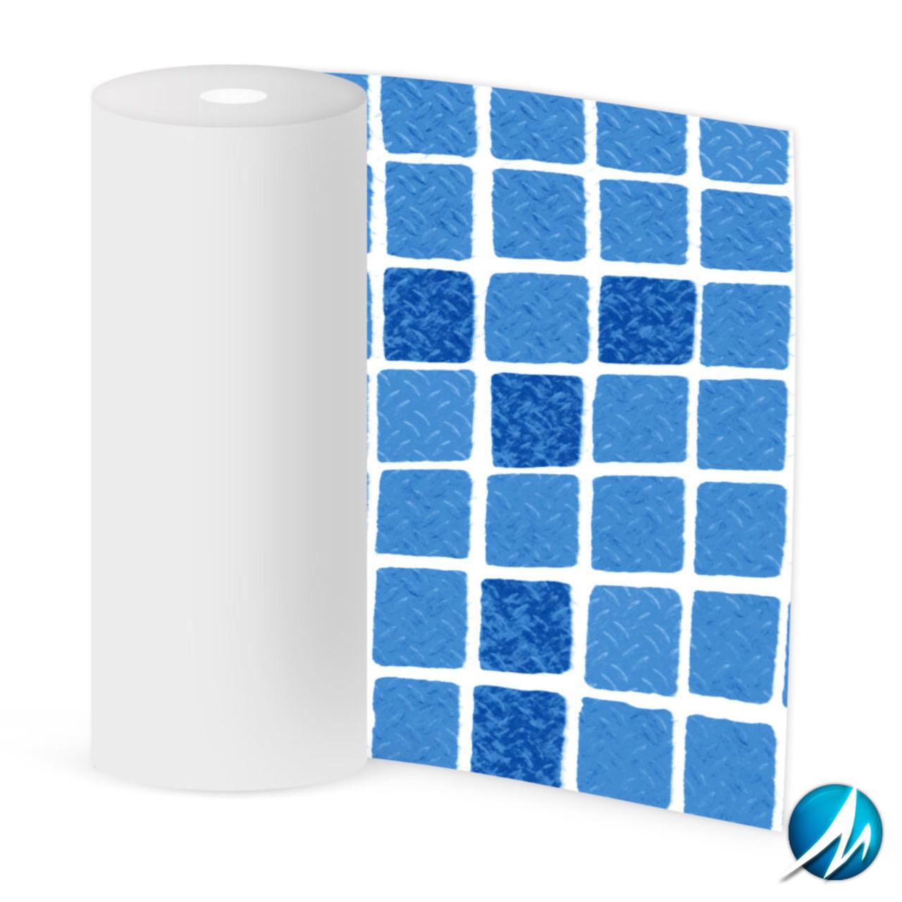 Лайнер противоскользящий ElbeBlue STG 200 Non-Slip Mosaic Blue 1123/01 - 1,65 м / 16,5 м²