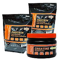 Комплект для набора мышечной массы: 4 кг Протеина Германия карамель + Intensive Five креатин в Подарок!