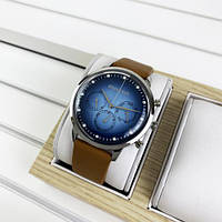 Чоловічі годинники Guardo 012430-1 Brown-Silver-Blue