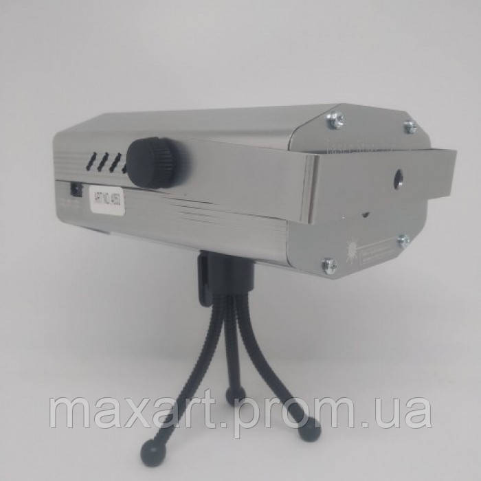 Лазерный проектор Диско LASER HJ09 2in1 Laser Stage с триногой Серый
