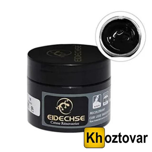 Крем-краска черная для кожаных изделий Eidechse   Жидкая кожа