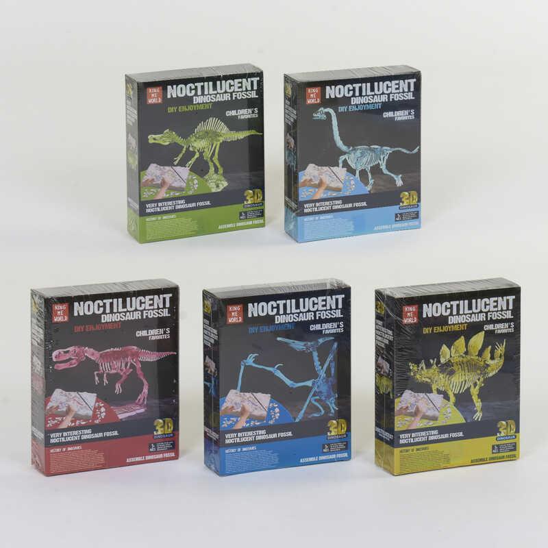 Раскопки динозавров 5 видов, в кор. /48-2/