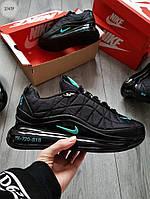 Мужские термо кроссовки Nike Air Max 720-818 (черно-бирюзовые) еврозима и весенние кроссы 274TP