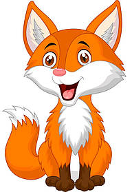 Детская картина по номерам BRUSHME KIDS 30*40 Радостная лисичка