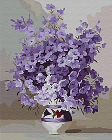 Картина по номерам 40*50 Фиолетовое цветение