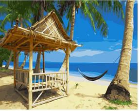 Картина по номерам 40*50 Райский пляж