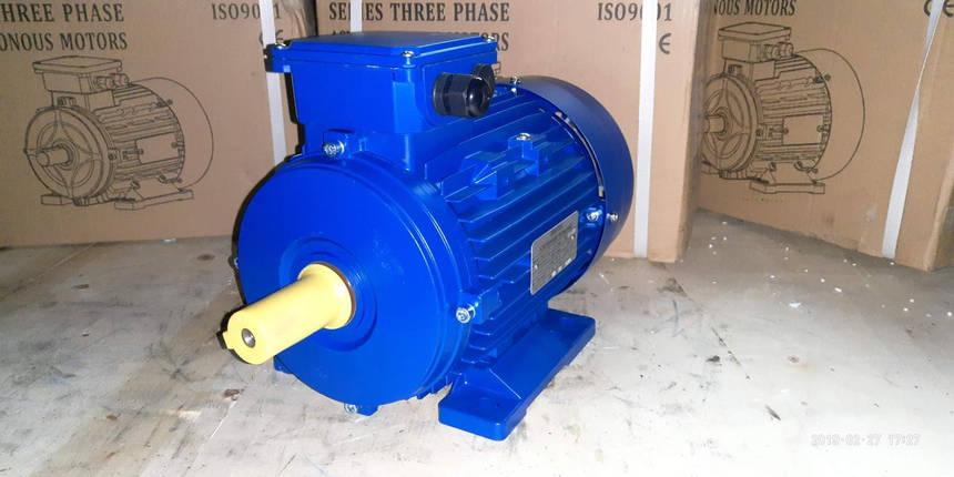 Электродвигатель 15 кВт 1500 об/мин АИР160S4 380/660в В3-лапа (1м1081), фото 2