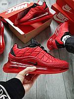 Мужские термо кроссовки Nike Air Max 720-818 (красные) еврозима и весенние кроссы 272TP