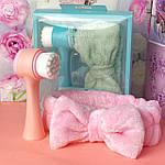 Набор - косметическая повязка и двухсторонняя щетка для лица Ruby Face, фото 2