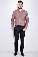 Рубашка мужская, однотонная 511F011-1 (Каштановый), фото 1