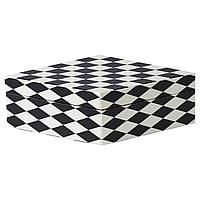 Коробка з кришкою, діамантовий малюнок чорно-білий, 28x14x8 см, декор IKEA 604.823.88