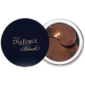 Большие гидрогелевые патчи с золотом и черным жемчугом Rearar DiaForce Hydro-Gel Eye Patch L Black 60 шт