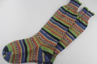 Из какой пряжи лучше вязать носки?