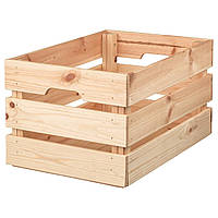 Ящик, сосна, 46х31х25 см, кнаггліг ікеа 702.923.59