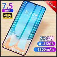 Смартфон S30U черный  память 8 + 512 7,5 огромный экран батарея 6800, фото 1