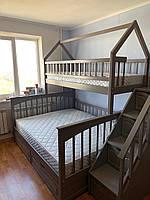 Кровать двухъярусная деревянная трансформер ЩитПлюс-Дом2
