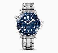Часы OMEGA SEAMASTER CO‑AXIAL MASTER CHRONOMETER 42 MM BLUE SILVER. REPLICA: VIP