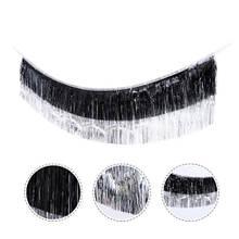 Гірлянда дощик чорний + срібло - висота 35см, ширина 175см, фольга