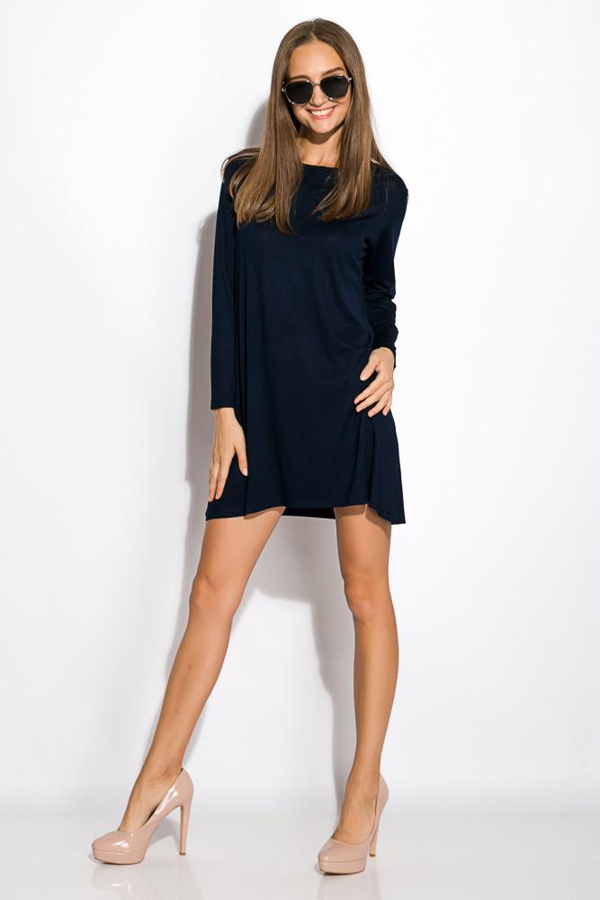 Платье-туника с круглым вырезом 317F054 (Темно-синий)