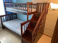 Кровать двухъярусная деревянная трансформер Щит Плюс1200