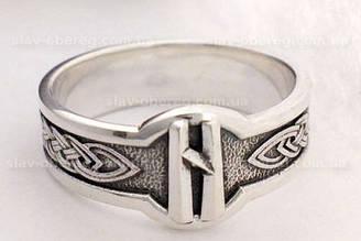 Кольцо Руна Хагалаз из серебра 925 пробы, 19 размер