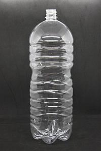 Пэт бутылка 3 л. с узким горлом (28 мм), прозрачная, 49 шт./уп.