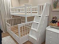 Кровать двухъярусная деревянная трансформер ЩитПлюс900