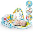 Розвиваючий килимок-піаніно для малюків арт. 9903, підсвічування. звуки, підвіски, фото 4