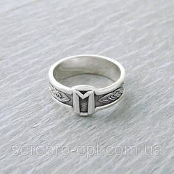 Кольцо Руна Эваз из серебра 925 пробы, 19 размер