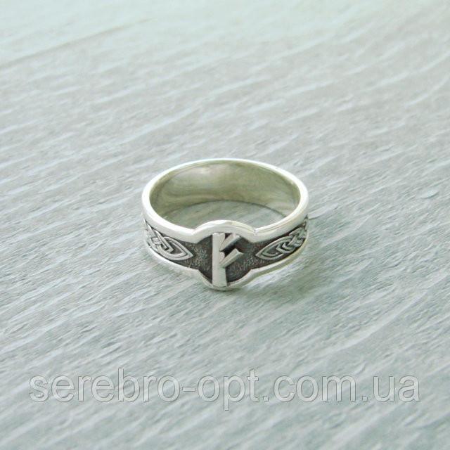 Кольцо  Руна Феху из серебра 925 пробы, 19 размер