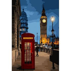 """Набір для розпису по номерах. Міський пейзаж """"Вечірній Лондон 2"""" 35*50см."""