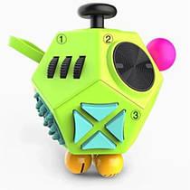 Додекаэдр Антистресс игрушка Фиджет Куб Салатовый + Разноцветные Кнопки