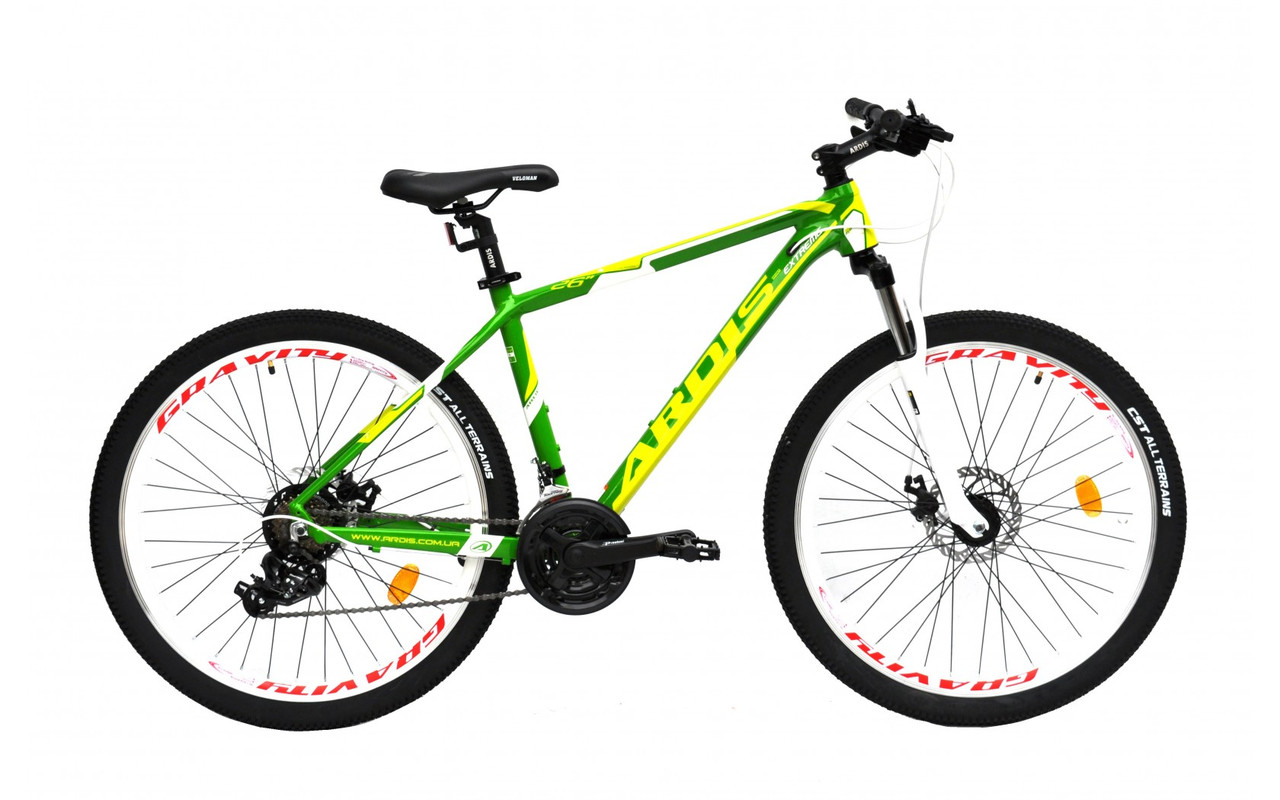 """Горный велосипед Ardis EXTREME 26"""" алюминиевый с дисковыми тормозами, Салатовый"""