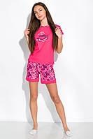 Пижама женская с рукавом реглан 107P5 (Розовый)