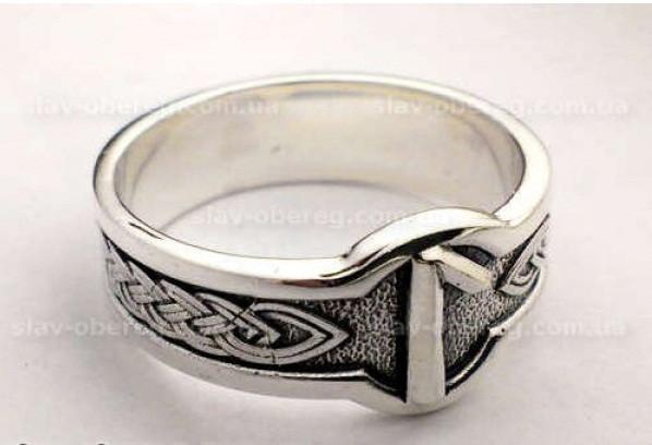 Кольцо Руна Лагуз из серебра 925 пробы
