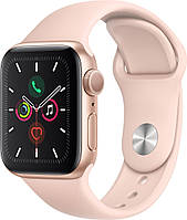 Смарт-часы Apple Watch Series 5 GPS 44mm Gold Aluminium with Pink Sand Sport Band [MWVE2]