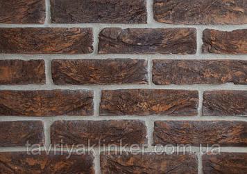 Плитка керамическая ручной формовки Таврический тёмный  250х20х65