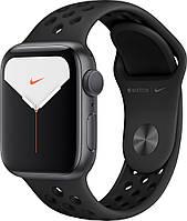 Смарт-часы Apple Watch Series 5 Nike GPS 44mm Space Gray Aluminum with Black Sport Band [MX3W2]