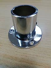 Кріплення труби d=25 високе (алюміній) GIFF фланець хром R-11M  система Джокер