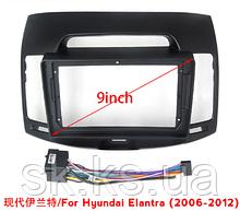 Автомобильная панель рамка  для HYUNDAI Elantra/Santa Fe/I10/IX25/IX45 и кабель питания для андроид магнитол