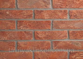 Плитка керамическая ручной формовки Вишнёвый 250х20х65