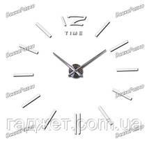 Часы настенные с объёмным эффектом белого цвета. Настенные часы., фото 3