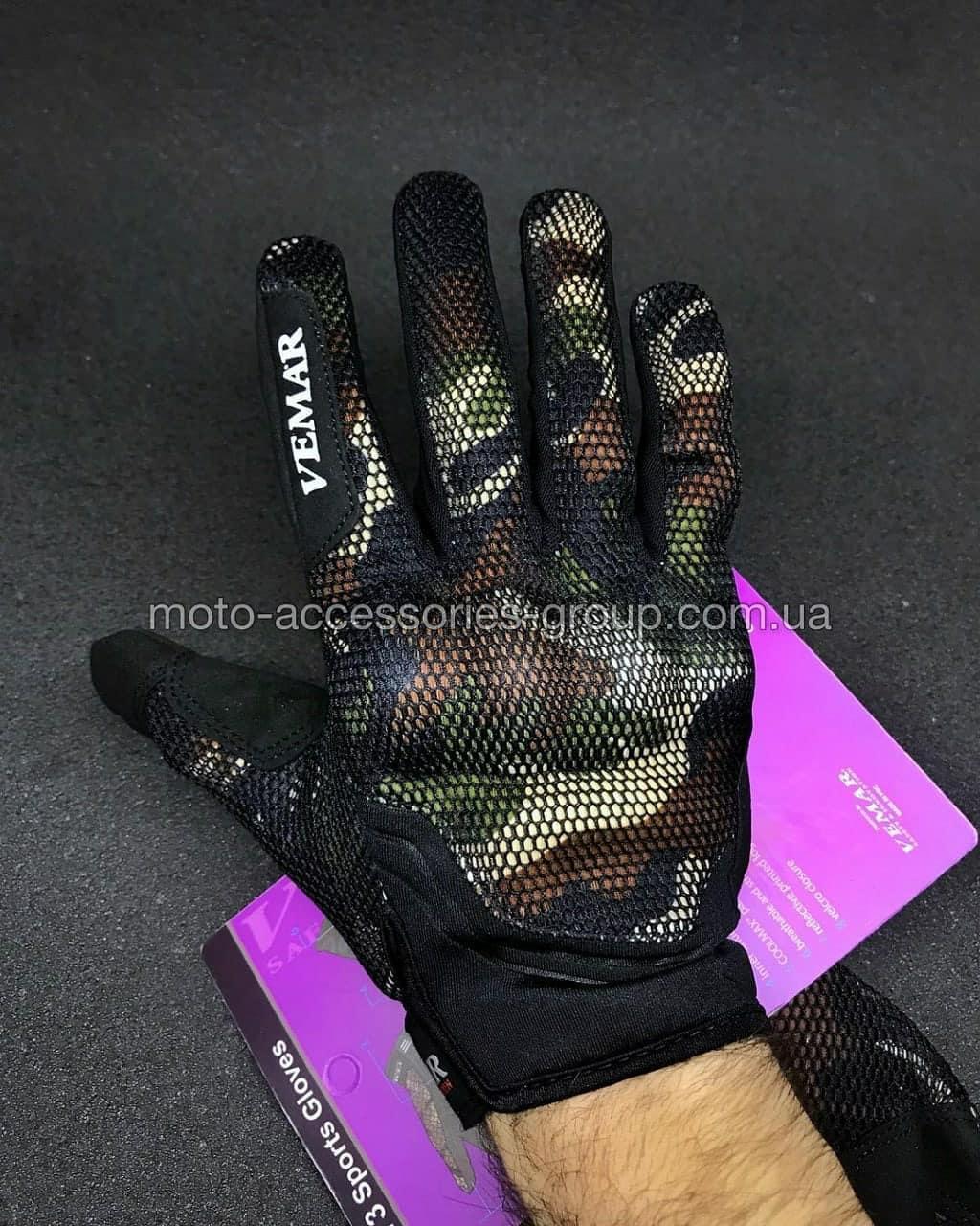 Мото перчатки VEMAR VE-173 (камуфляж)