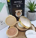 Кушон пудра BIOAQUA Exquisite & Delicate BB Cushion Cream 15 г + 15 г биоаква увлажняющая пудра, фото 3