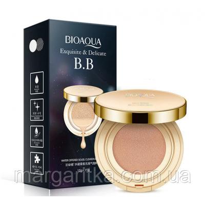 Кушон пудра BIOAQUA Exquisite & Delicate BB Cushion Cream 15 г + 15 г биоаква увлажняющая пудра