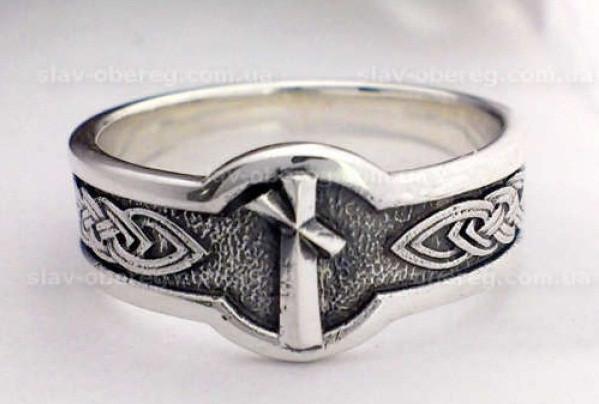 Кольцо Руна Наутиз из серебра 925 пробы, 18,5 размер