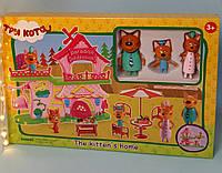Игровой набор герои Три кота, в комплекте домик, 3 героя, мебель для пикника
