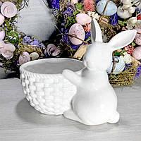 Пасхальный заяц с пасхальной корзинкой, 16 см, фото 1