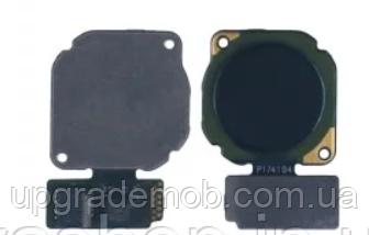 Шлейф Honor 8A/Y6 2019, с сканером отпечатка пальца, черного цвета