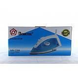Паровой Утюг Domotec 1200Вт MS-2208 Тефлоновое покрытие (код: 45067 ), фото 2